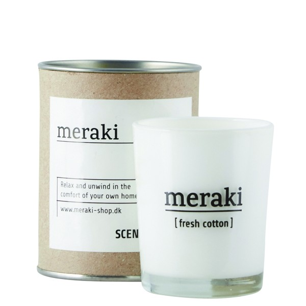 Kleine MERAKI Duftkerze - Fresh Cotton