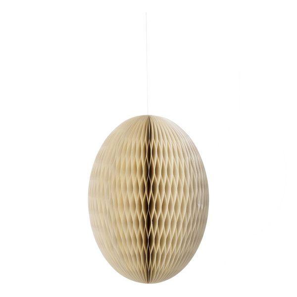 Papierei Paper Deco egg Swirl Pearl XXL - 30 cm
