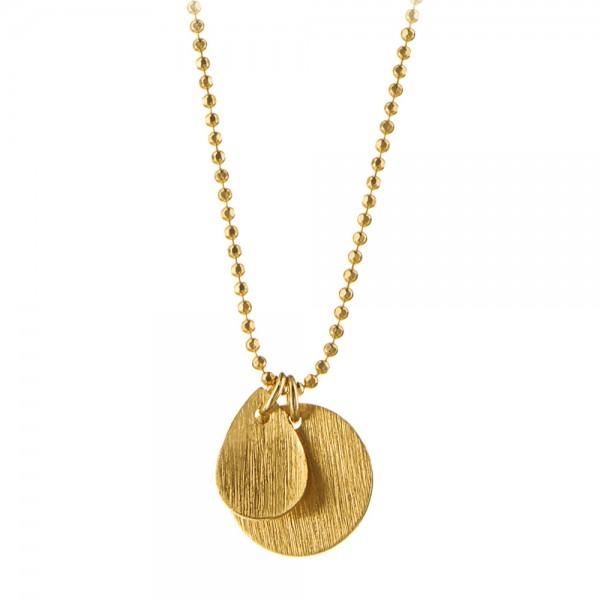PERNILLE CORYDON Coin & Drop Necklace
