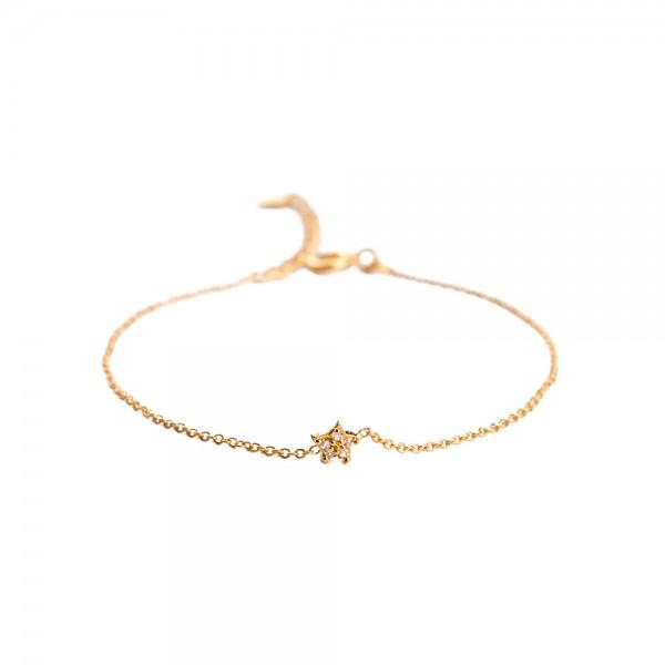 Muja Juma Bracelet White Zircon Star
