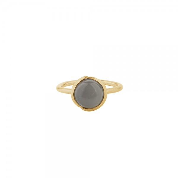 PERNILLE CORYDON Aura Grey Moonstone Ring