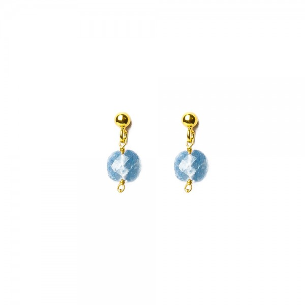 Muja Juma Earring Jeans Blue Stone Beads