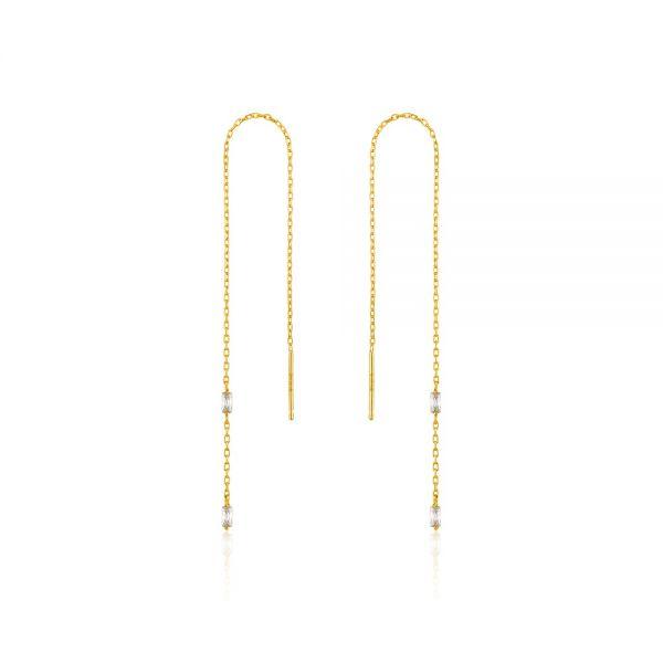 ANIA HAIE Glow threader earrings
