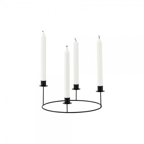 Kerzenständer Ring, schwarz