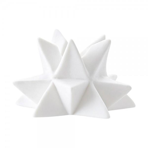Kerzenständer Star aus weißer Keramik