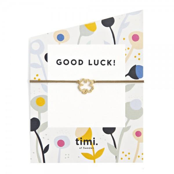 MINT Clover MAKE A WISH Bracelet by TIMI OF SWEDEN