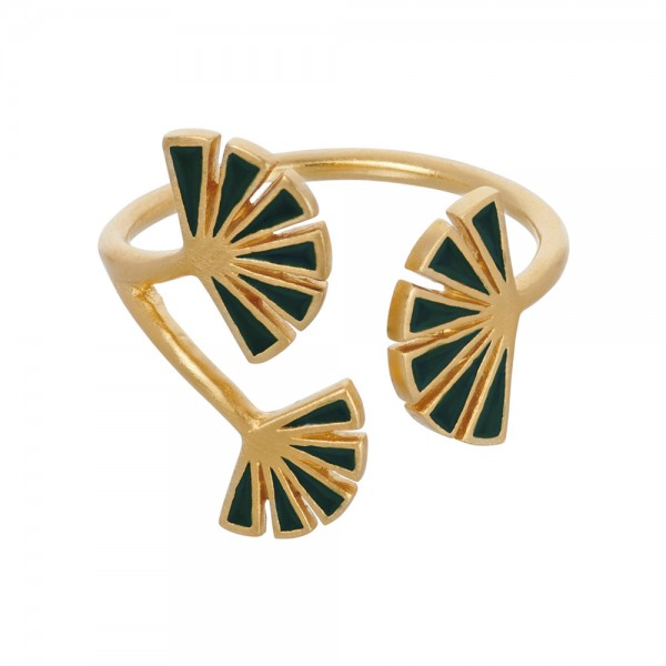 PERNILLE CORYDON Flare Green Ring