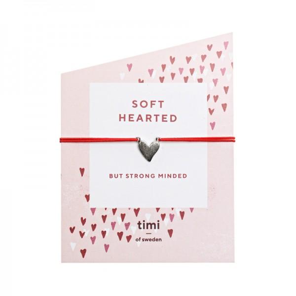 Irregular Heart versilbert MAKE A WISH Bracelet by TIMI OF SWEDEN