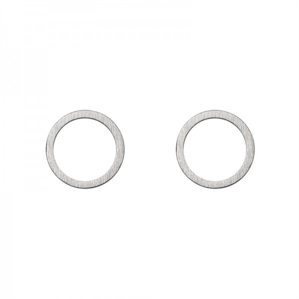 Small Circle Earrings versilbert MAKE A WISH by TIMI OF SWEDEN