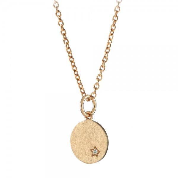 PERNILLE CORYDON Diamond Coin Necklace