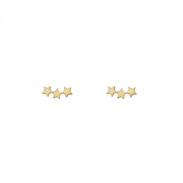 Three Star Earrings vergoldet MAKE A WISH by TIMI OF SWEDEN