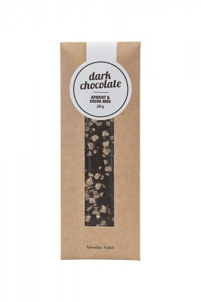 NICOLAS VAHÉ - Feinherbe Schokolade mit Aprikose und Kakao.