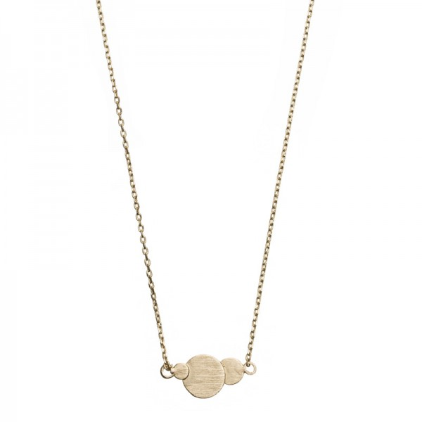 Three Circles vergoldet MAKE A WISH Necklace by TIMI OF SWEDEN