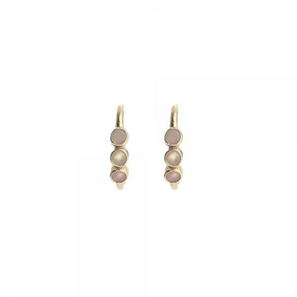 Muja Juma Earring Peach Moonstone/Turquoise