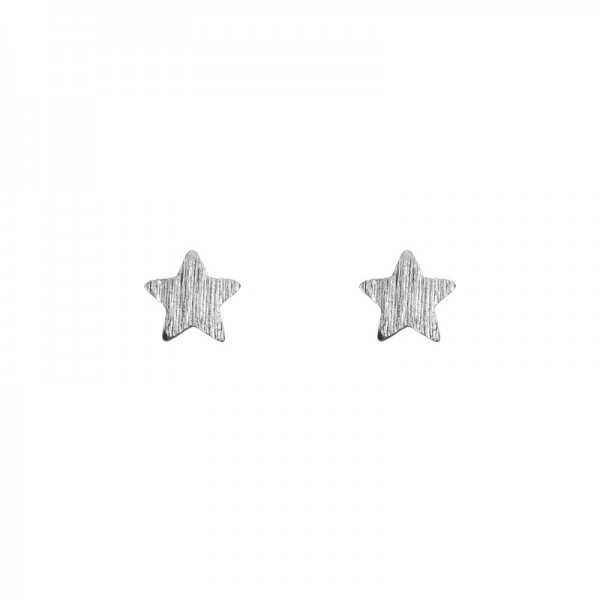 Small Star Earrings versilbert MAKE A WISH by TIMI OF SWEDEN