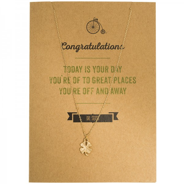 Glückwunschkarte TODAY IS YOUR DAY mit einer Kette