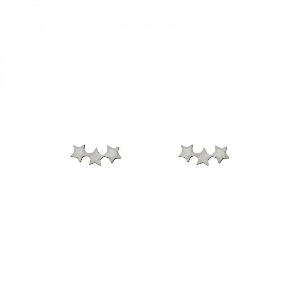 Three Star Earrings versilbert MAKE A WISH by TIMI OF SWEDEN
