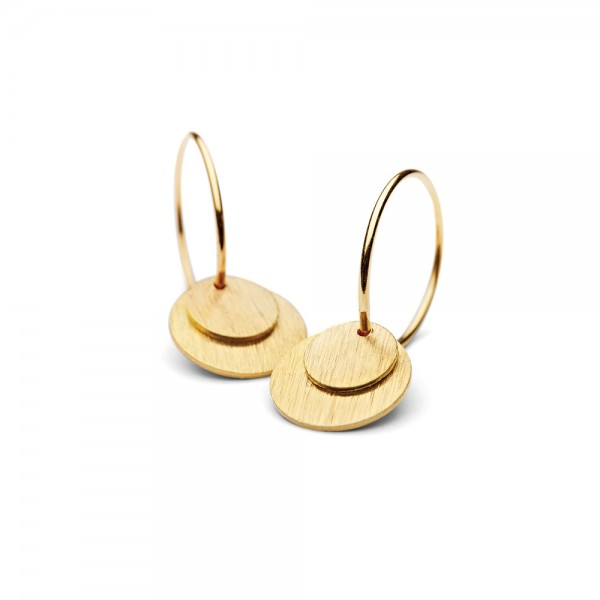 PERNILLE CORYDON Small Combi Coin Earrings