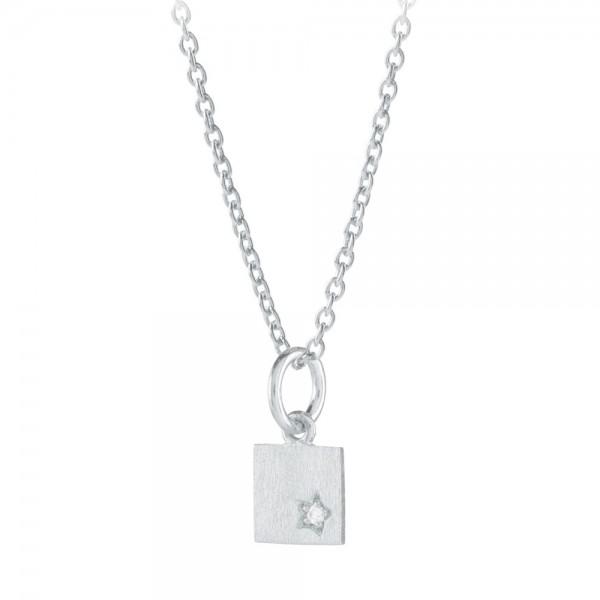 PERNILLE CORYDON Diamond Square Necklace