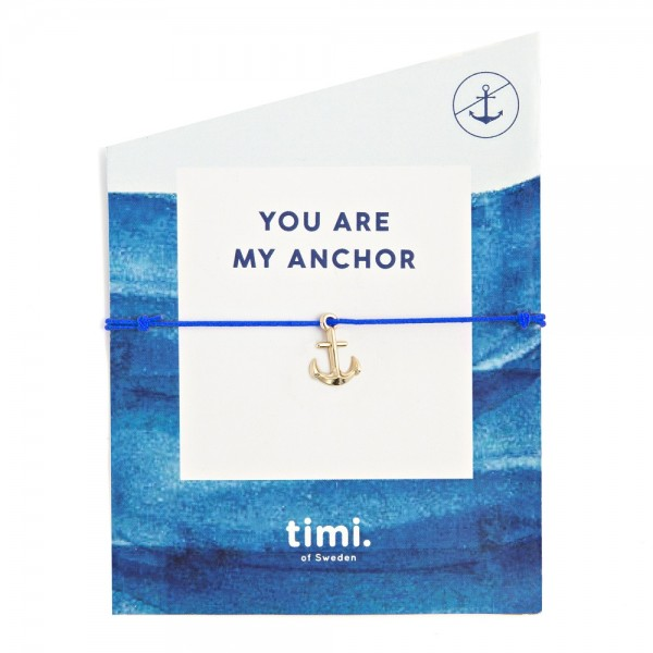 MINT Anchor MAKE A WISH Bracelet by TIMI OF SWEDEN