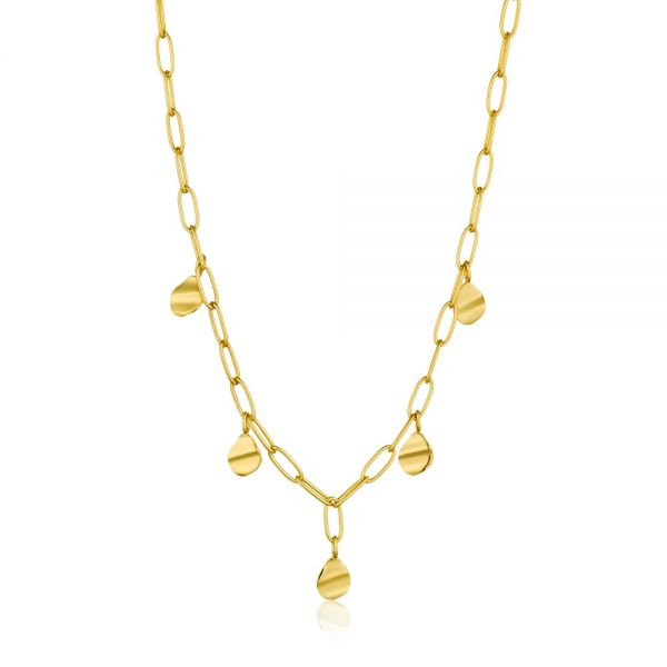 ANIA HAIE Crush drop discs necklace