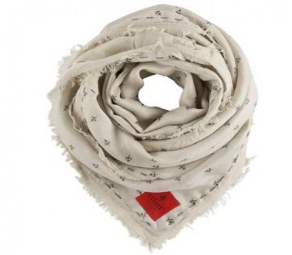 LOTTE ERFURT HJORTH Schal Silk Modal Simple Print Cream